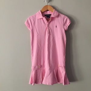 Ralph Lauren Girls Tennis Dress Pink Size 6X